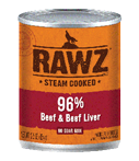 RAWZ 96% Meat Beef and Beef Liver Wet Dog Food at NJPetSupply.com
