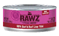 RAWZ 96% Beef and Liver Pate Wet Cat Food, 5.5-oz