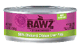 RAWZ 96% Chicken and Chicken Liver Pate Wet Cat Food, 5.5-oz