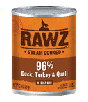 RAWZ 96% Meat Duck, Turkey, and Quail Wet Dog Food at NJPetSupply.com