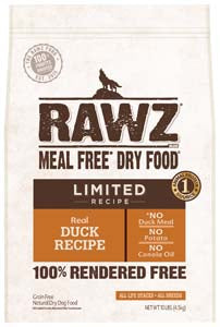 RAWZ Limited Ingredient Diet Duck Dry Dog Food 3-lb at NJPetSupply.com