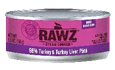RAWZ 96% Meat Turkey and Liver Pate Wet Cat Food at NJPetSupply.com