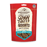 Stella & Chewy's Raw Coated Dog Biscuits, Lamb Flavor Treats at NJPetSupply.com