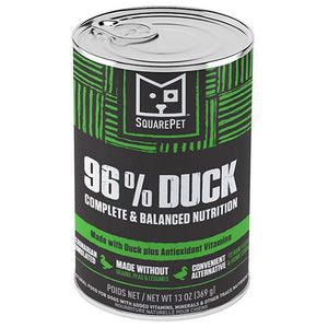 SquarePet 96% Duck Wet Dog Food
