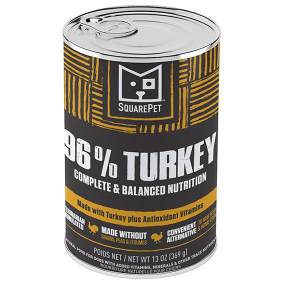 SquarePet 96% Turkey Wet Dog Food