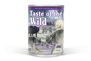 Taste of the Wild Sierra Mountain Formula with Lamb in Wet Dog Food