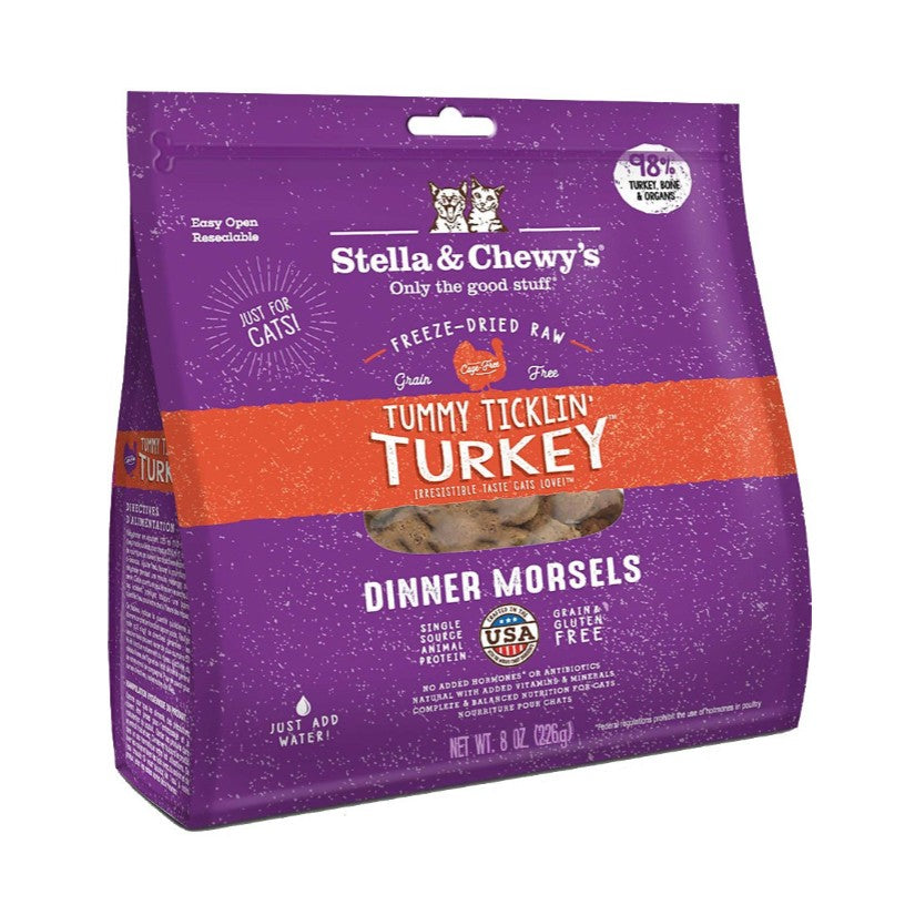 Stella & Chewy's Tummy Ticklin' Turkey Freeze Dried Cat Food