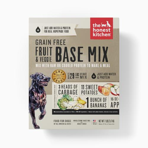 Honest Kitchen Preference Grain Free, Gluten Free, Meat Free Fruit & Veggie Base Mix Dehydrated Dog Food