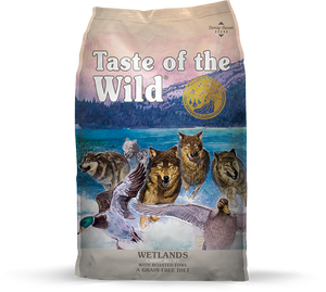 Taste of the Wild Wetlands Recipe with Roasted Fowl Dry Dog Food at NJPetSupply.com