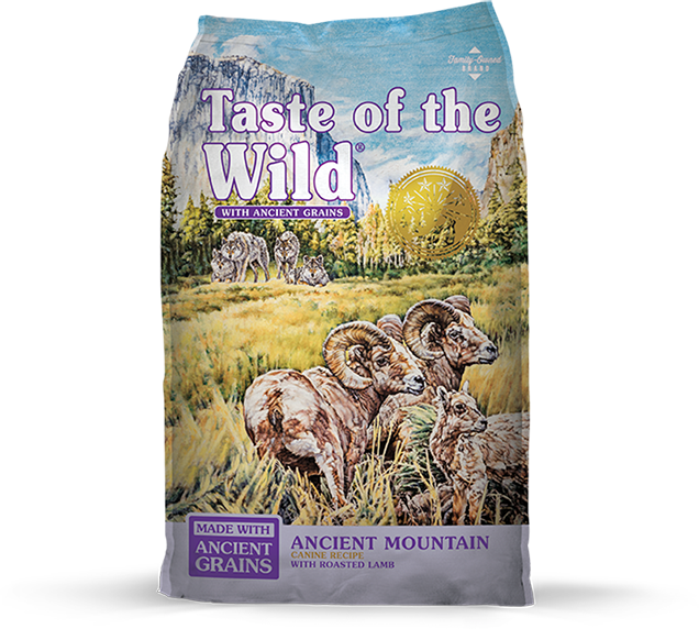 Taste of the Wild with Ancient Grains Ancient Mountain Recipe with Lamb Dry Dog Food at NJPetSupply.com