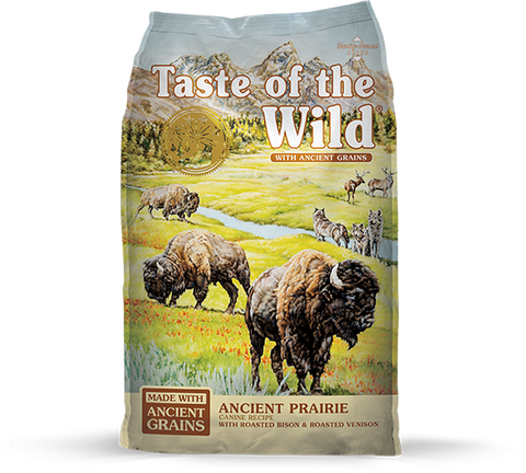 Taste of the Wild with Ancient Grains Ancient Prairie Recipe with Bison & Venison Dry Dog Food