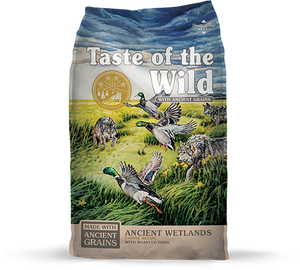 Taste of the Wild with Ancient Grains Ancient Wetlands Recipe with Fowl Dry Dog Food at NJPetSupply.com