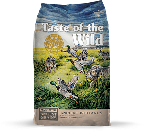 Taste of the Wild with Ancient Grains Ancient Wetlands Recipe with Fowl Dry Dog Food