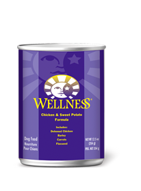 Wellness Chicken & Sweet Potato Canned Wet Dog Food at NJPetSupply.com