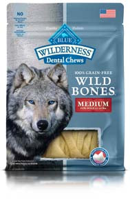 Blue Buffalo Dental Chews Wild Bones Small for Dogs 15-25 lbs at NJPetSupply.com