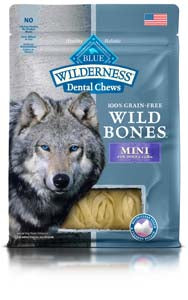 Blue Buffalo Dental Chews Wild Bones Medium for Dogs 25-50 lbs at NJPetSupply.com