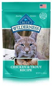 Blue Buffalo Wilderness Chicken and Trout Soft-Moist Cat Treats - NJ Pet Supply