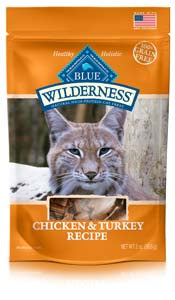Blue Buffalo Wilderness Chicken and Turkey Soft-Moist Cat Treats at NJPetSupply.com