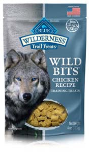 Blue Buffalo Wilderness Trail Treats Chicken Wild Bits - Grain-Free Dog Training Treats - NJ Pet Supply