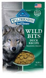 Blue Buffalo Wilderness Trail Treats Duck Wild Bits - Grain-Free Dog Training Treats - NJ Pet Supply