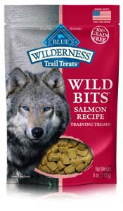 Blue Buffalo Wilderness Trail Treats Salmon Wild Bits - Grain-Free Dog Training Treats at NJPetSupply.com