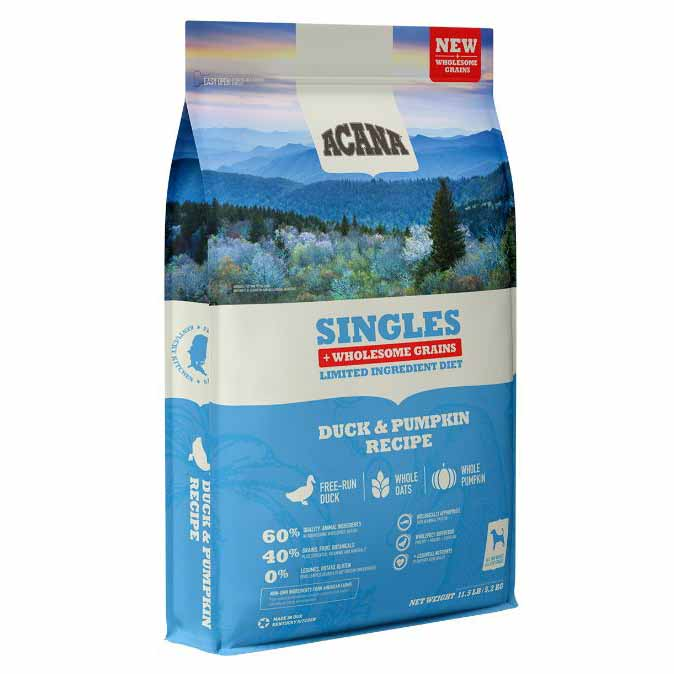 Acana Singles Duck & Pumpkin Plus Wholesome Grains Dry Dog Food