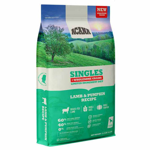 Acana Singles Lamb & Pumpkin Plus Wholesome Grains Dry Dog Food