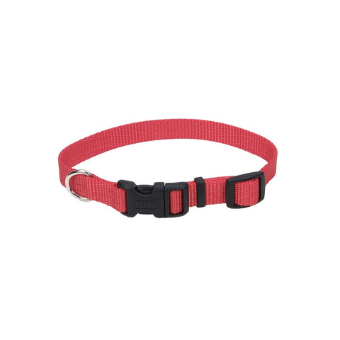 Coastal Adjustable Nylon Collar with Tuff Buckle Small Red