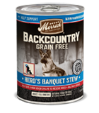 Merrick Backcountry Grain Free Hero's Banquet Stew Canned Wet Dog Food at NJPetSupply.com