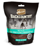 Merrick Grain Free Backcountry Wild Fields Real Turkey & Sweet Potato Patties