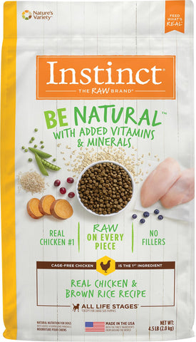 Natures Variety Instinct Be Natural 25lb. Chicken and Brown Rice Dry Dog Food at NJPetSupply.com