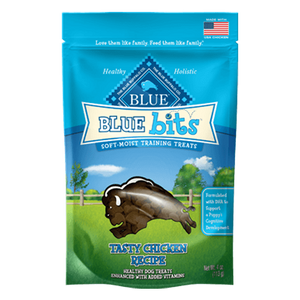 Blue Buffalo Bits Tender Chicken Soft-Moist Training Treats at NJPetSupply.com