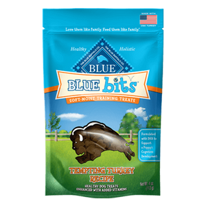 Blue Buffalo Bits Tender Turkey Soft-Moist Training Treats at NJPetSupply.com