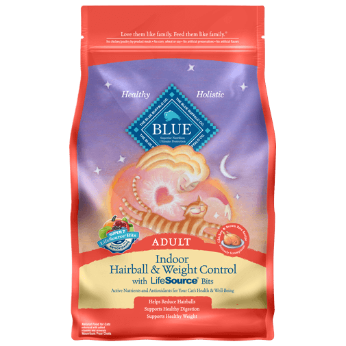 Blue Buffalo Indoor Hairball and Weight Control Dry Cat Food, 3-lb at NJPetSupply.com