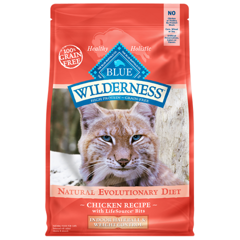Blue Buffalo Wilderness Indoor Hairball and Weight Control Dry Cat Food - NJ Pet Supply