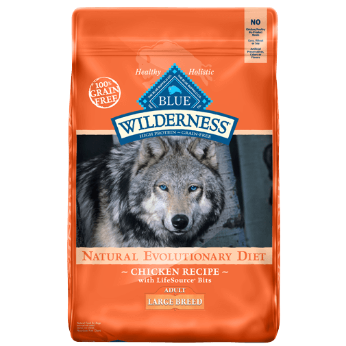 Blue Buffalo Wilderness Large Breed Adult Chicken Dry Dog Food, 24-lb at NJPetSupply.com