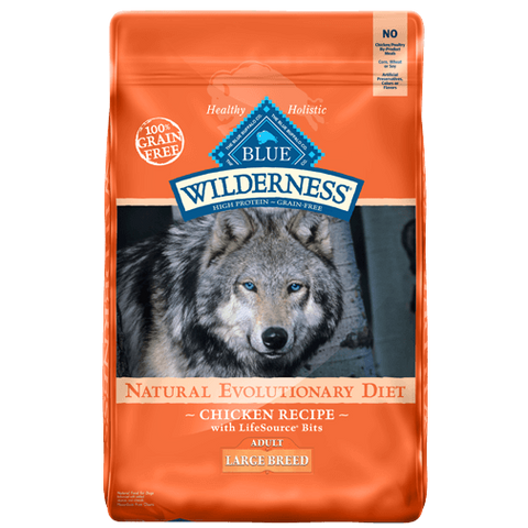 Blue Buffalo Wilderness Large Breed Adult Chicken Dry Dog Food - NJ Pet Supply