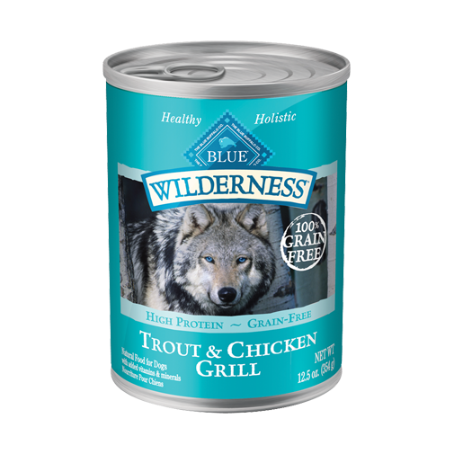 Blue Buffalo Wilderness Trout and Chicken Grill Canned Dog Food - NJ Pet Supply
