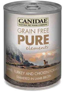Canidae Grain Free Pure Elements Lamb Turkey & Chicken Simmered in Lamb Broth Canned Dog Food - NJ Pet Supply