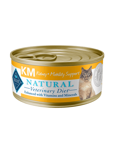 BLUE Natural Veterinary Diet KM Kidney + Mobility Support Wet Cat Food - NJ Pet Supply