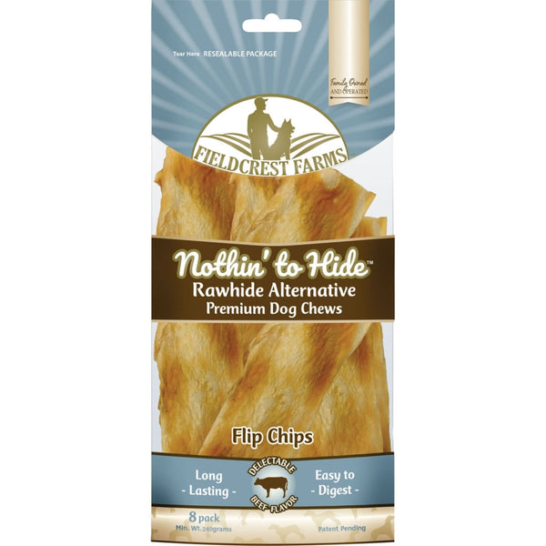 "Fieldcrest Farms Nothin' to Hide Rawhide Alternative Beef Chews, 8"" at NJPetSupply.com"