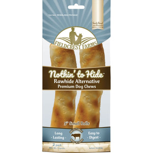 "Fieldcrest Farms Nothin' to Hide Rawhide Alternative Beef Chews, 5"" at NJPetSupply.com"