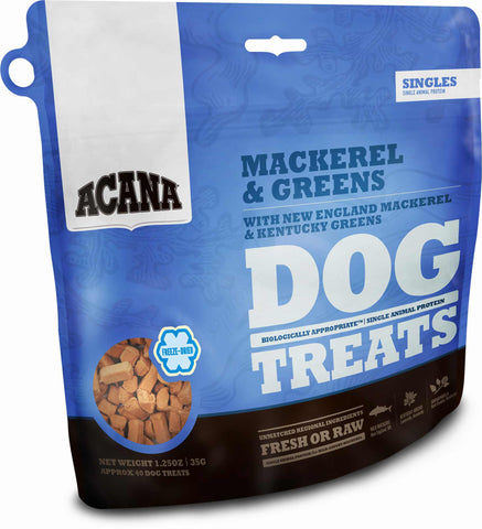 Acana Singles Dog Treat, Mackerel & Greens - NJ Pet Supply