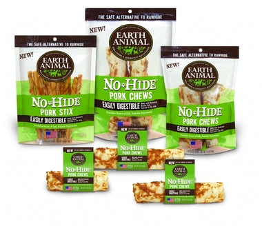 Earth Animal No-Hide Pork Chews Dog Treat - NJ Pet Supply