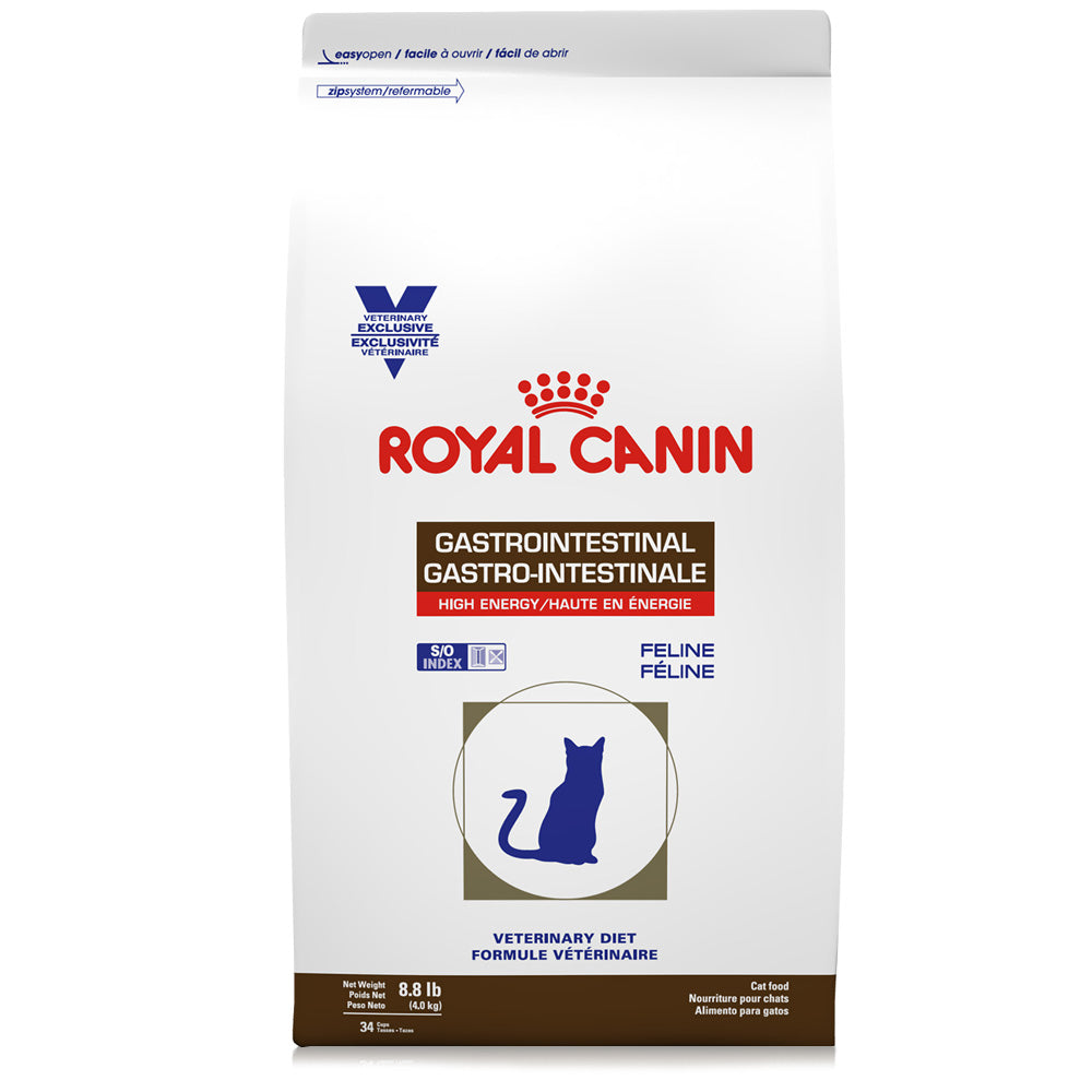 Royal Canin Veterinary Diet Feline Gastrointestinal High Energy Dry Cat Food at NJPetSupply.com