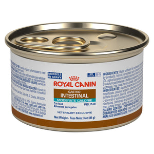 Royal Canin Veterinary Diet Feline Gastrointestinal Moderal Calorie Morsels in Gravy Wet Cat Food at NJPetSupply.com