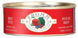 Fromm 4-Star Beef Pate Canned Wet Cat Food at NJPetSupply.com