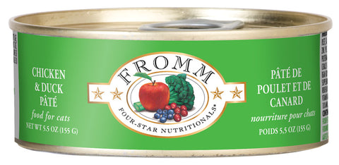 Fromm 4-Star Chicken and Duck Pate Canned Wet Cat Food at NJPetSupply.com