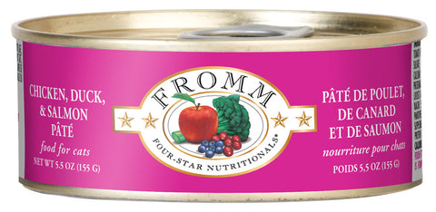 Fromm 4-Star Chicken, Duck, and Salmon Pate Canned Wet Cat Food at NJPetSupply.com