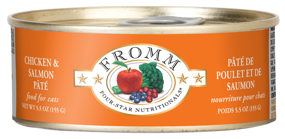 Fromm 4-Star Chicken and Salmon Pate Canned Wet Cat Food at NJPetSupply.com